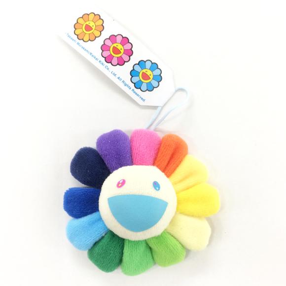 【新色】お花キーチェーン レインボ- × ホワイト