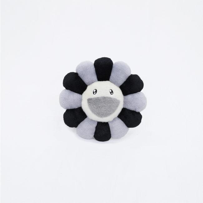 Flower Cushion / Grey&Black 30cm