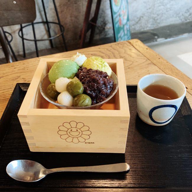 お花抹茶パフェ