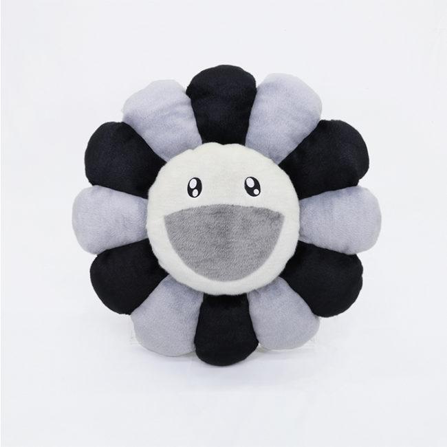Flower Cushion / Grey&Black 60cm
