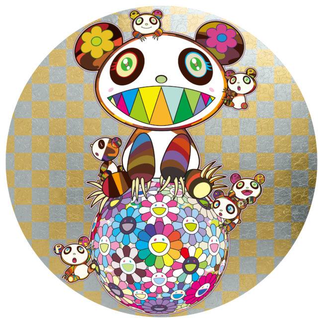 パンダと子パンダとお花ボール