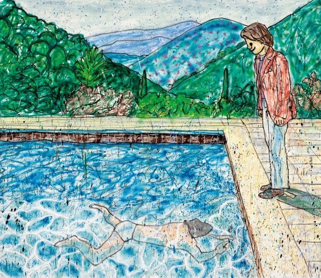 Portrait of an Artist<br> (Pool with Two Figures) Ⅱ<br> (inspired by David Hockney)_P
