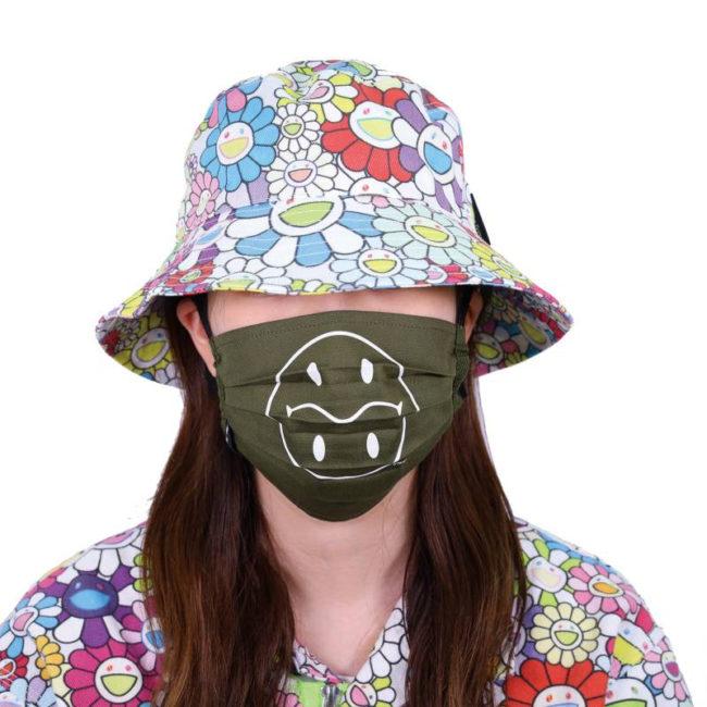Tonari no Smiley-kun Mask / Moss green (WH)