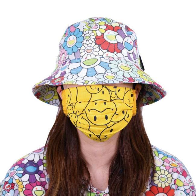 Tonari no Smiley-kun Pattern Mask / Bright Yellow (BK)