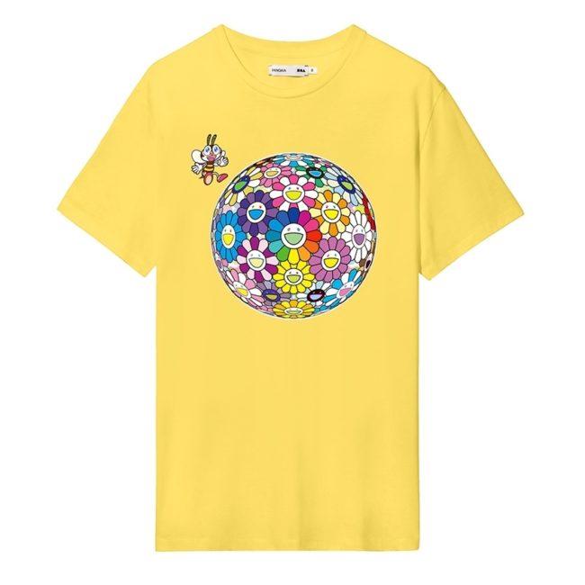 PANGAIA × TAKASHI MURAKAMI Flower T-Shirt Saffron Yellow