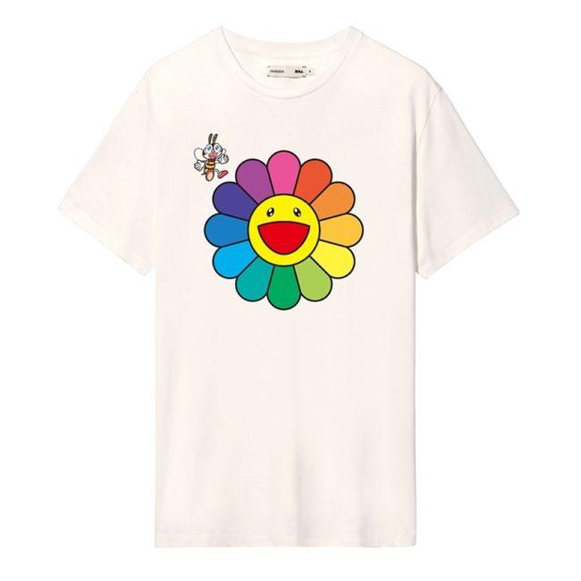 PANGAIA × TAKASHI MURAKAMI Flower T-Shirt Off White