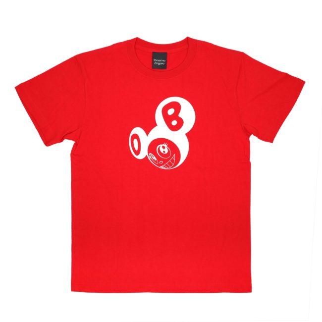 ななめDOB Tシャツ レッド/ホワイト