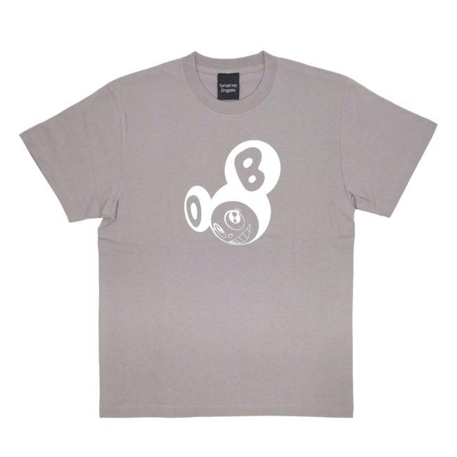 ななめDOB Tシャツ グレー/ホワイト