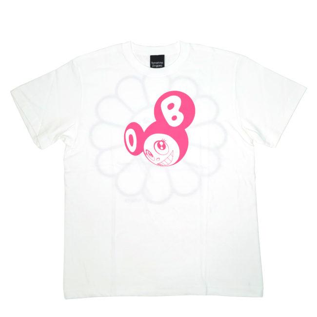 ななめDOB Tシャツ ホワイト/ピンク