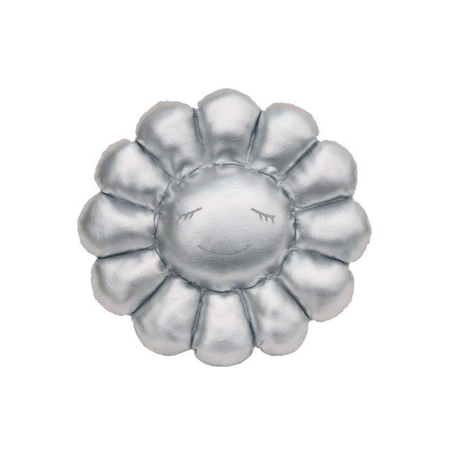 Flower Cushion / Silver  (30cm)