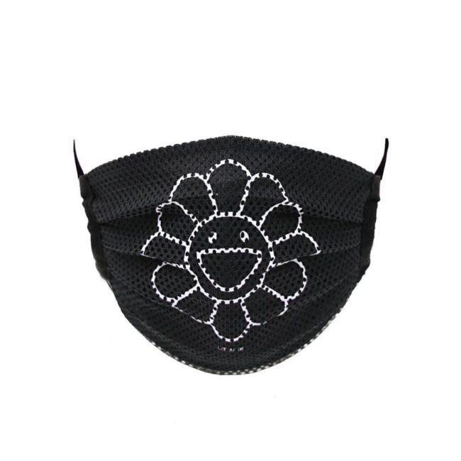 Mesh Flower Mask / Black (WH)