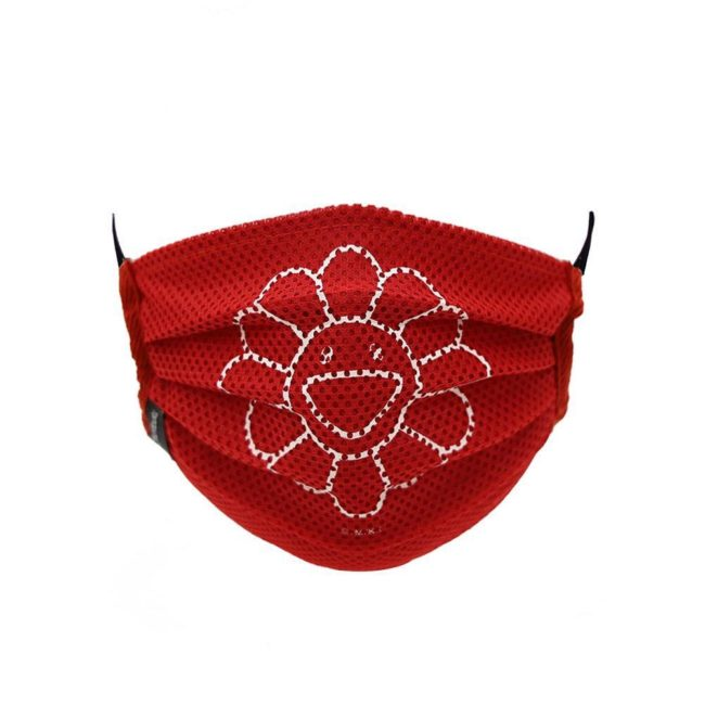 Mesh Flower Mask / Red (WH)