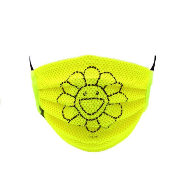 Mesh Flower Mask / Yellow (BK)