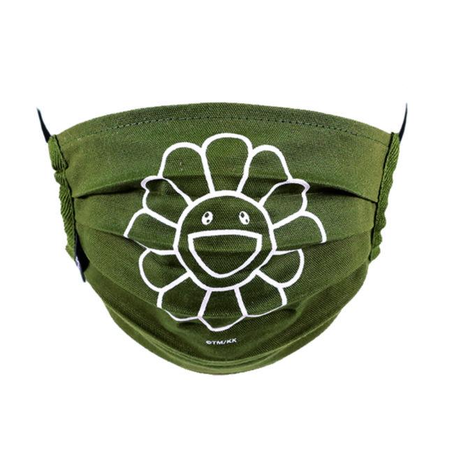 Flower Mask / Moss green(WH)