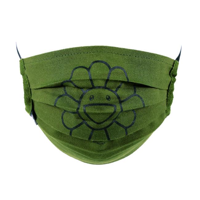 Flower Mask / Moss green(BK)