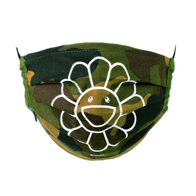 Flower Mask / Camouflage-A(WH)