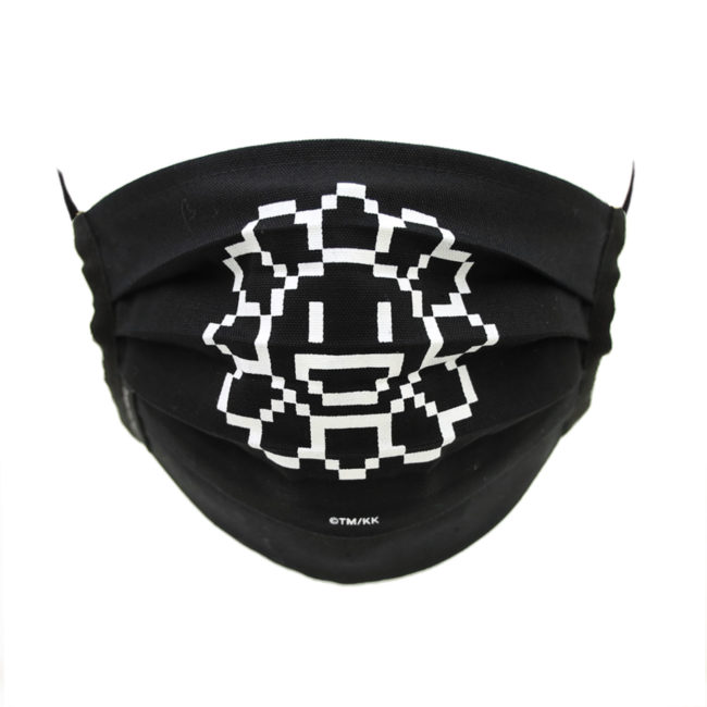 M.F Flower Mask / Black (WH) (5月上旬頃発送)