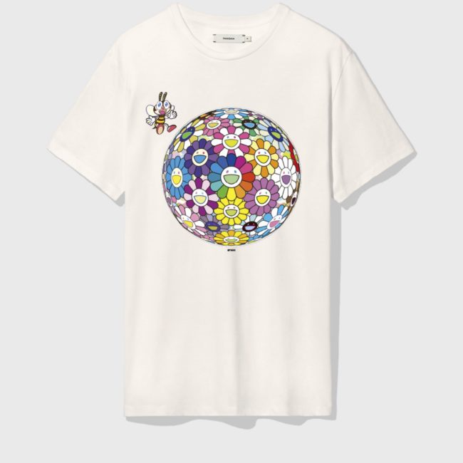 PANGAIA × TAKASHI MURAKAMI For MoMA Flower T-Shirt Off White(5月上旬頃発送)