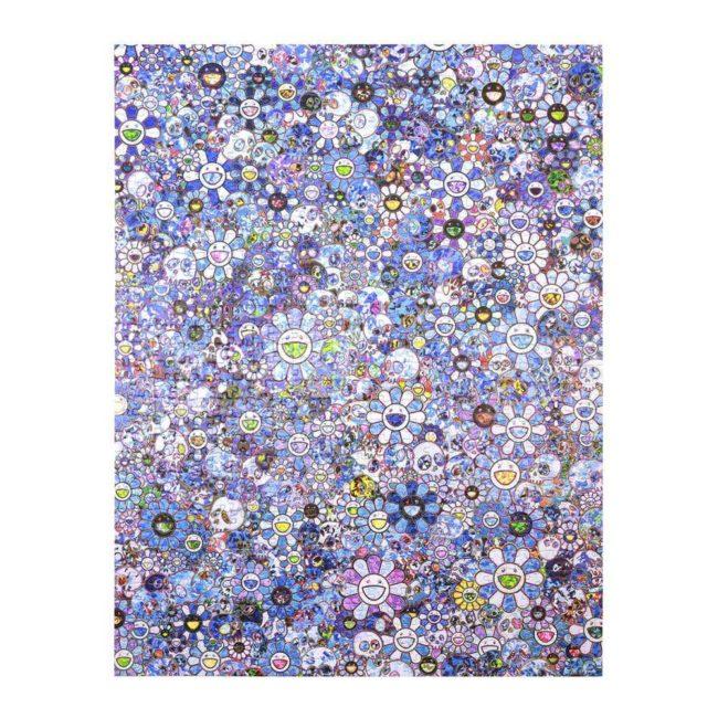 Jigsaw Puzzle / SKULLS & FLOWERS BLUE SIGNAL